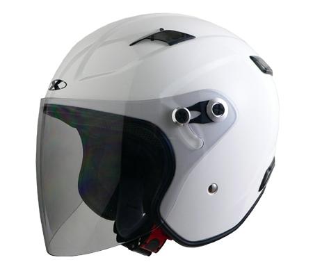 X-AIR RAZZO�V エクストリームジェットヘルメット ホワイト
