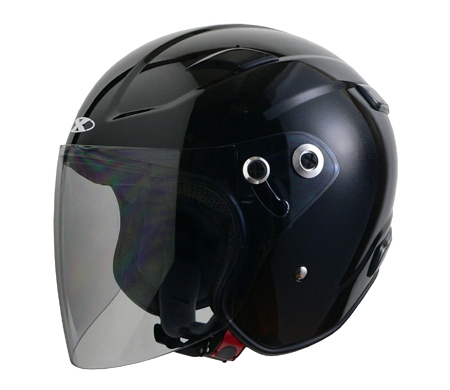 X-AIR RAZZO�V エクストリームジェットヘルメット ブラック
