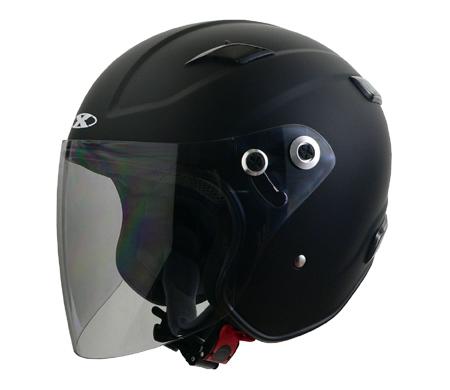 X-AIR RAZZO�V エクストリームジェットヘルメット マットブラック