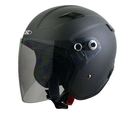X-AIR RAZZO�V エクストリームジェットヘルメット スモーキーシルバー