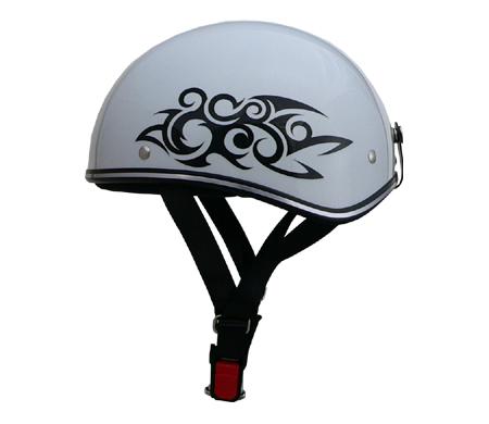 ディルーズ ハーフヘルメット ホワイトトライバル
