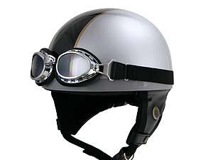 Barton ビンテージヘルメット シルバー