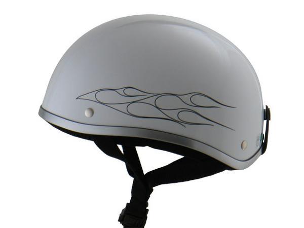 ディルーズ ハーフヘルメット WHITE/BLACKフレア